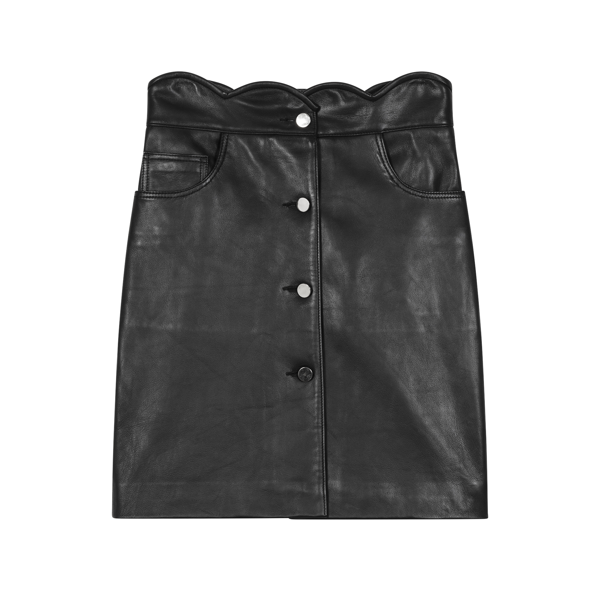 Short leather skirt - Skirts & Shorts - MAJE